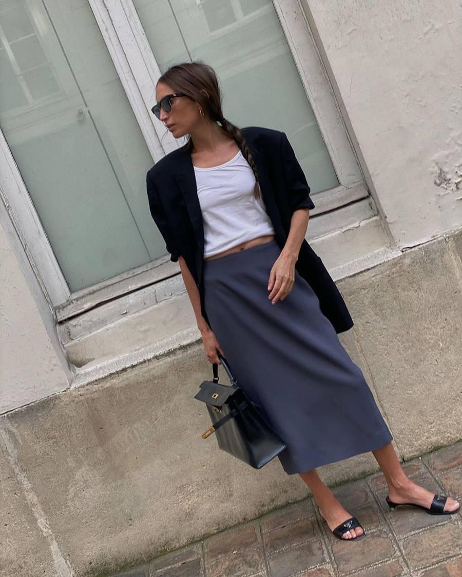 look cinza elegante